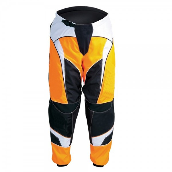 Yellow Motocross Cordura Textile Trouser