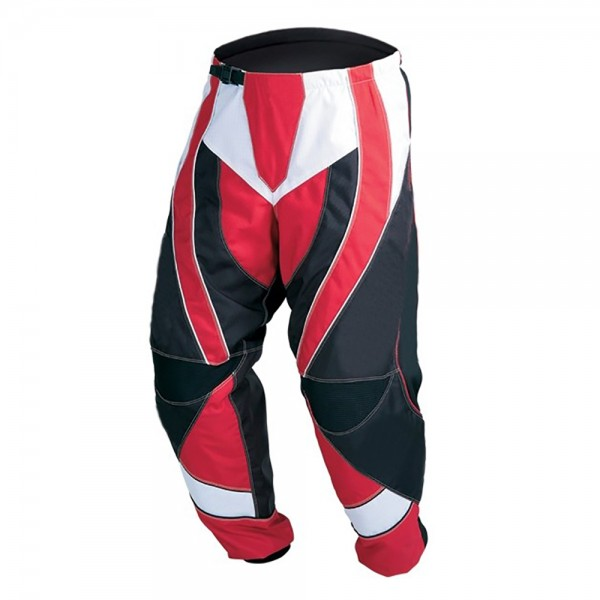 Red & White Motocross Cordura Textile Trouser