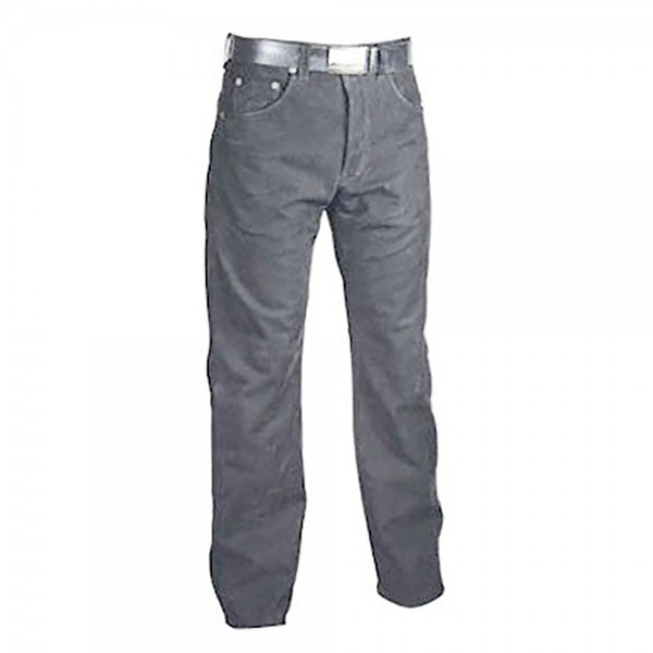 Classic Grey Jeans Style Leather Fashion Pant