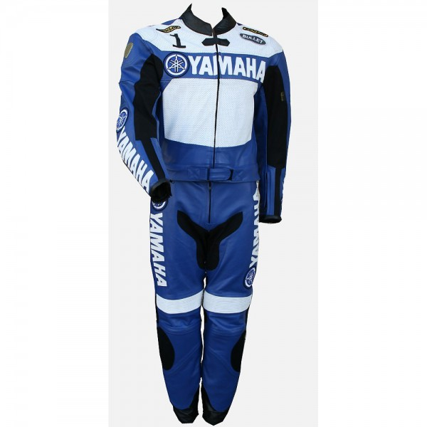 Yamaha 1 Motorbike Racing Leather 2-PC Suit Men