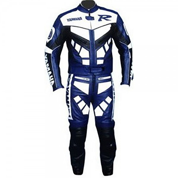 Yamaha R Motorbike Leather Racing Leather 2-PC Suit Men
