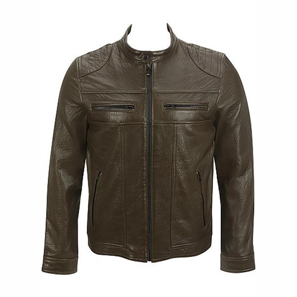Saddle Shoulder Leather Fashion Casual Jacket