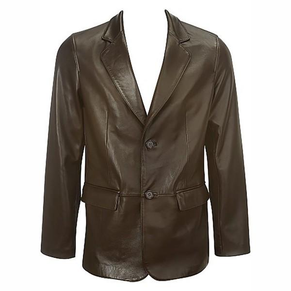 Leather Fashion & Casual Brown Blazer