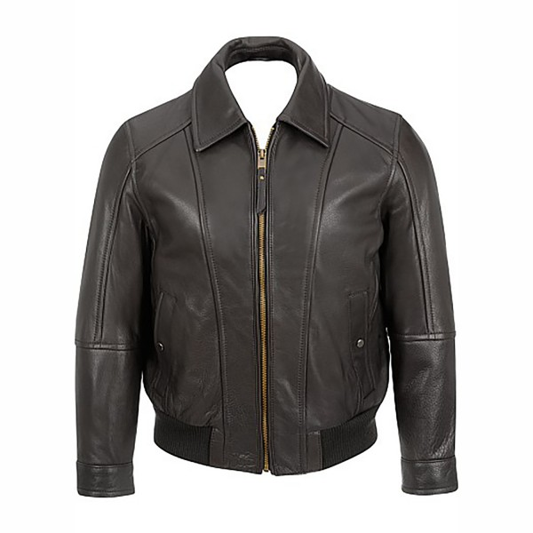 Light Weight Bomber Leather Jacket