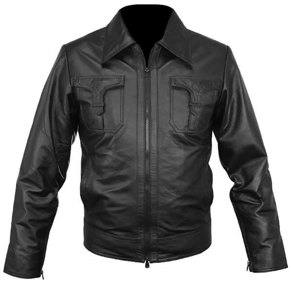 Cracker: Classic Cut Leather Shirt Style Fashion Jacket
