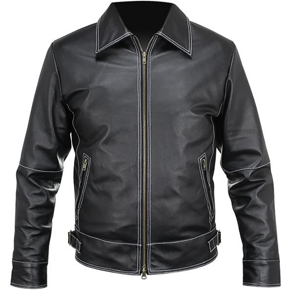 Rough: Shirt Style Leather Fashion Jacket