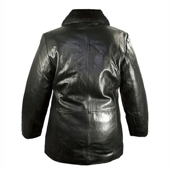 Fur: Collar Ladies Leather Fashion Jacket