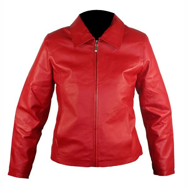 Red Hot: Ladies Leather Fashion Casual Jacket