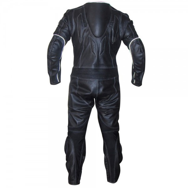 Flasher Motorbike Racing Leather Suit 1-Pc