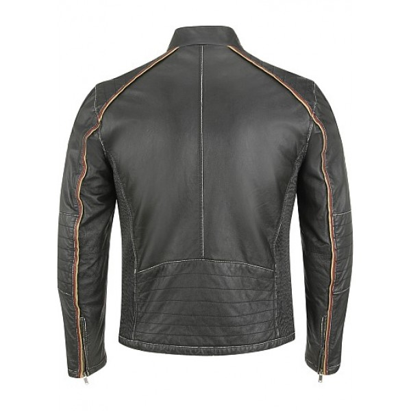 Semi Fashion Semi Motorbike Leather Jacket