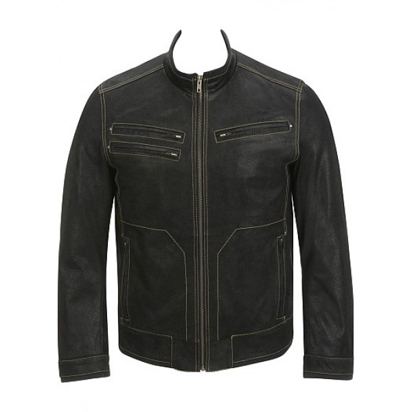 Contrast Semi Fashion Semi Motorbike Cruiser Leather